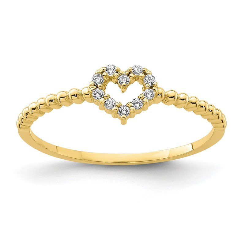 J.F. Kruse Signature Collection 10K Heart CZ Ring