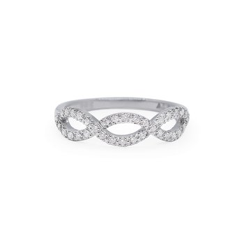 White Gold Infinito Ring with Diamonds