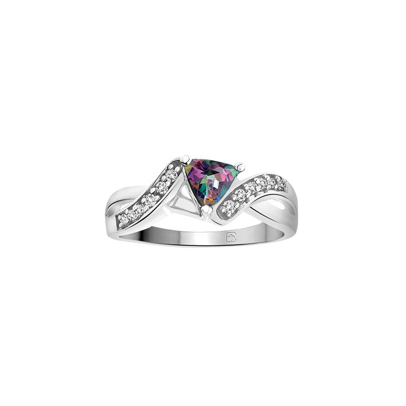 Diamond Wishes Mystic Topaz Ladies Ring