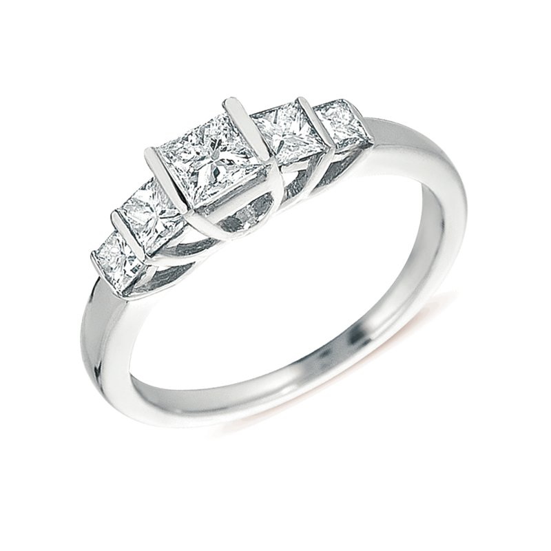 S. Kashi & Sons Bridal White Gold Five Stone Band