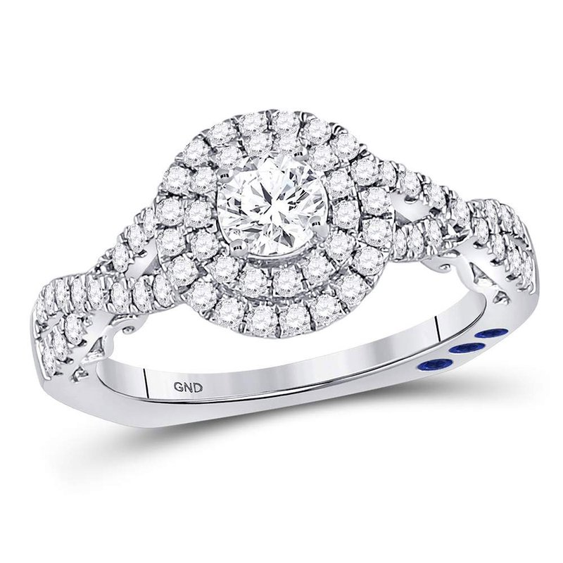 Gold-N-Diamonds, Inc. (Atlanta) 14kt White Gold Womens Round Diamond Solitaire Bridal Wedding Engagement Ring 1.00 Cttw
