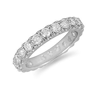14K WG Diamond Eternity Band in Prong Setting 2.00 Cts.