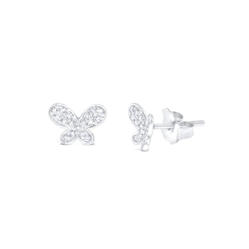 KC Designs 14K Gold and Diamond Butterfly Earrings
