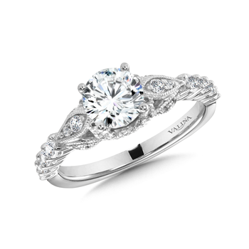 Diamond Engagement Ring Mounting in 14K White Gold (0.50 ct. tw.)