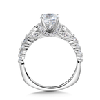 Valina Diamond Engagement Ring Mounting in 14K White Gold (0.50 ct. tw.)