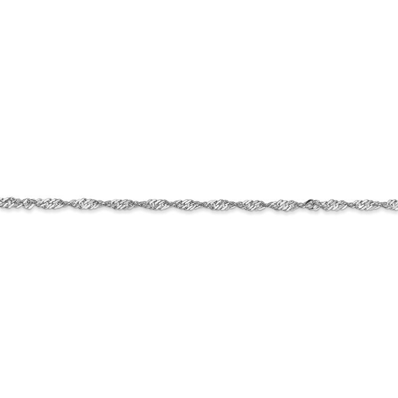 Leslie's Leslie's 14K White Gold 1.6mm Singapore Chain Anklet