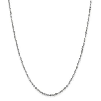 Leslie's 14K White Gold Singapore w/Lock Chain