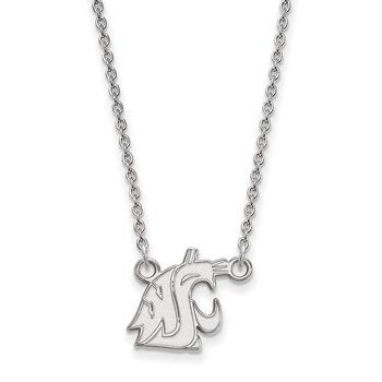 Sterling Silver Washington State University NCAA Necklace