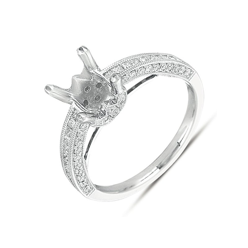 S. Kashi  & Sons White Gold Pave Engagement Ring
