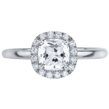 Pave Set Elevated Diamond Engagement Ring