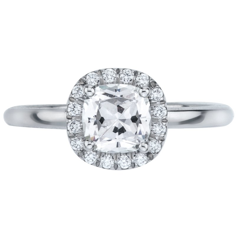 Mark Patterson Pave Set Elevated Diamond Engagement Ring