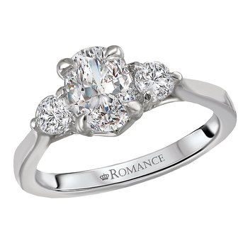 3-Stone Semi Mount Diamond Ring