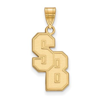 Gold-Plated Sterling Silver Stony Brook University NCAA Pendant