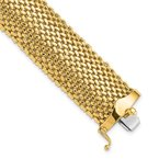 Quality Gold 14k 7.25in 18.75mm Polished Mesh Bracelet