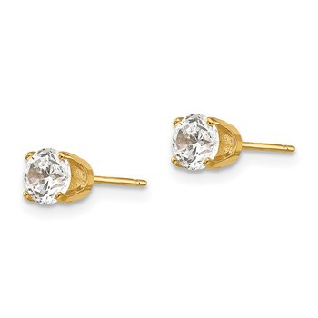 14k 4.5mm CZ stud earrings