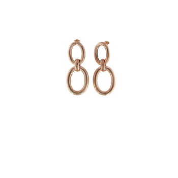 #27698 Of 18Kt Rose Gold Oval Drop Earrings