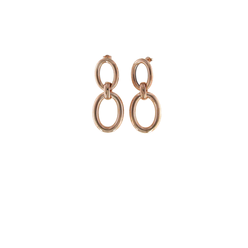Roberto Coin  #27698 Of 18Kt Rose Gold Oval Drop Earrings