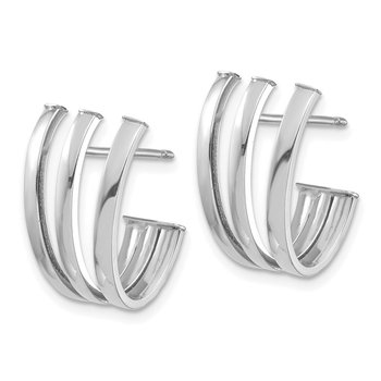 14k White Gold Polished Fancy Post Earrings