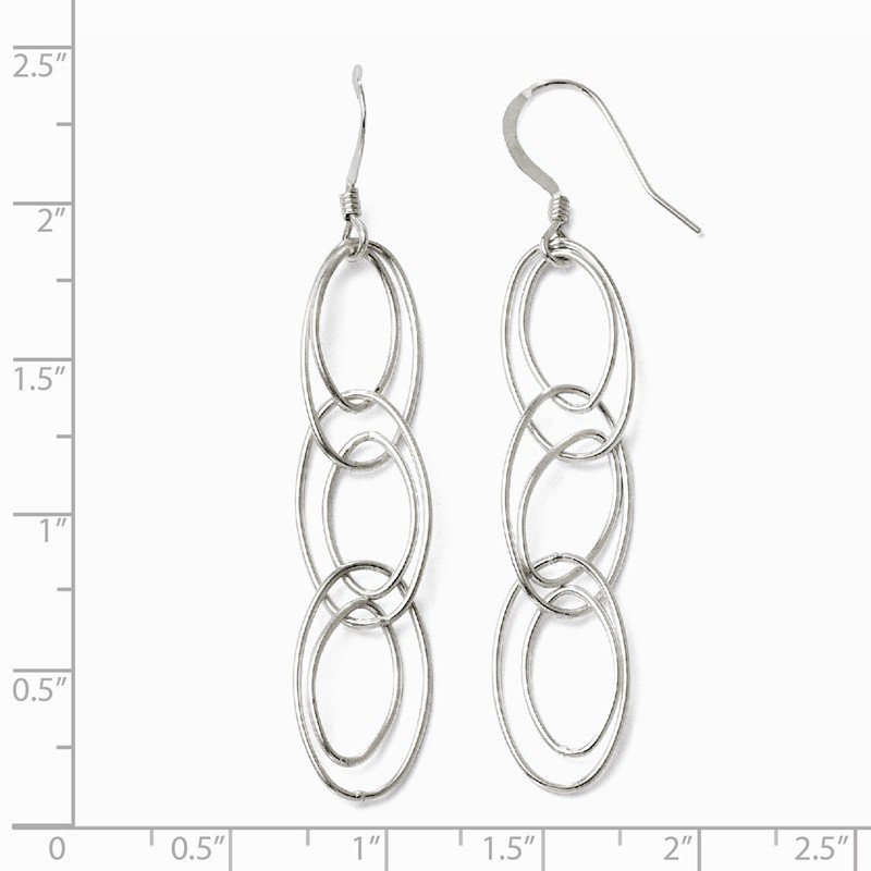 Leslie's Leslie's Sterling Silver Shepherd Hook Dangle Earrings
