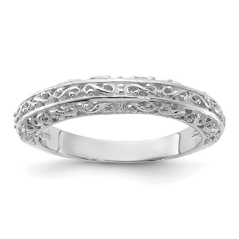 Quality Gold 14k White Gold Anniversary Band