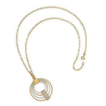 Leslie's 14k Two-tone Glimmer Infused Necklace
