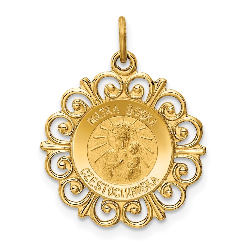 J.F. Kruse Signature Collection 14k Matka Boska Medal Charm
