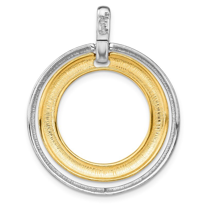 Leslie's Leslie's Sterling Silver Gold-tone Flash 24k Plated Pendant