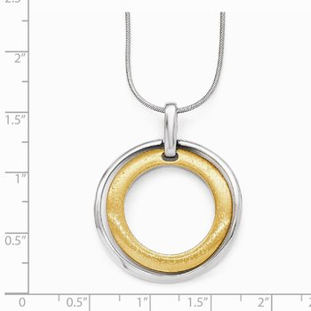 Leslie's Sterling Silver Gold-tone Flash 24k Plated Pendant