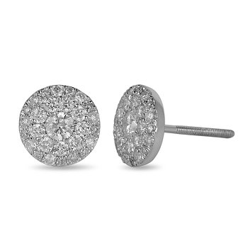 14K WG Diamond  Lumis Collection Cluster Earring