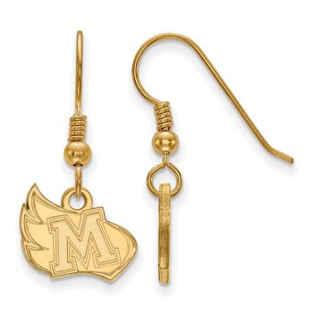 Gold-Plated Sterling Silver Meredith College NCAA Earrings
