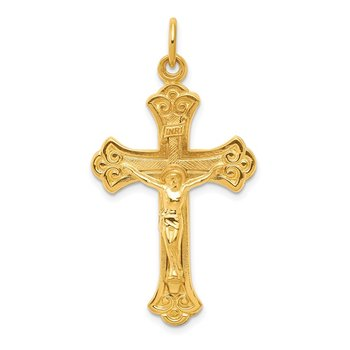 Sterling Silver & 24k Gold -plated INRI Crucifix Pendant