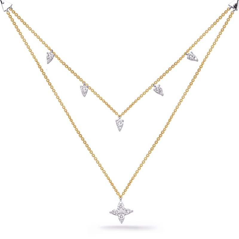 S. Kashi  & Sons Yellow & White Gold Diamond Necklace