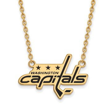 Gold-Plated Sterling Silver Washington Capitals NHL Necklace