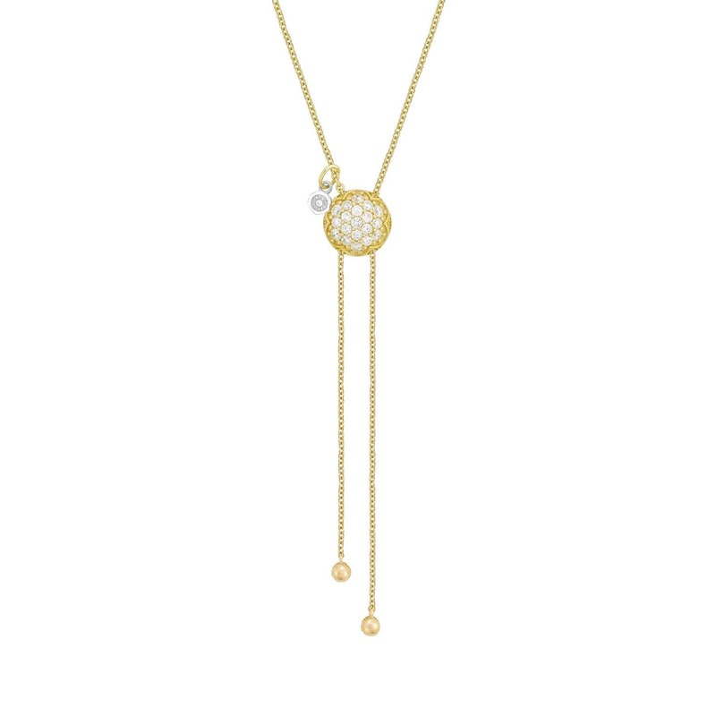 Tacori Fashion Double Chain Pavé Dew Drop Lariat