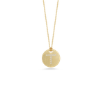 Roberto Coin Disc Pendant With Diamond Initial T