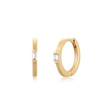 CLAUDIA | Single Topaz Huggie Hoop