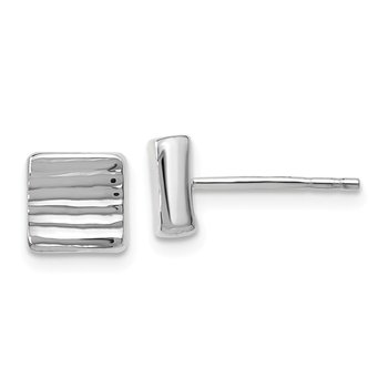Leslie's 14K White Gold Post Earrings