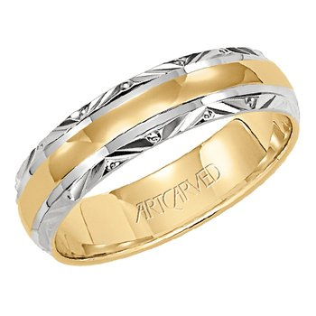 "14K Two-Tone ""Serene"" Comfort Fit Wedding Band"