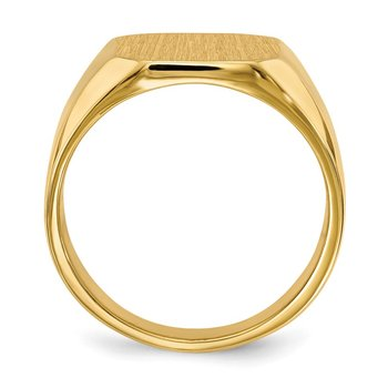 14k 15.5x13.0mm Closed Back Men's Signet Ring