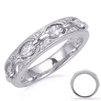 White Gold Weddding Band