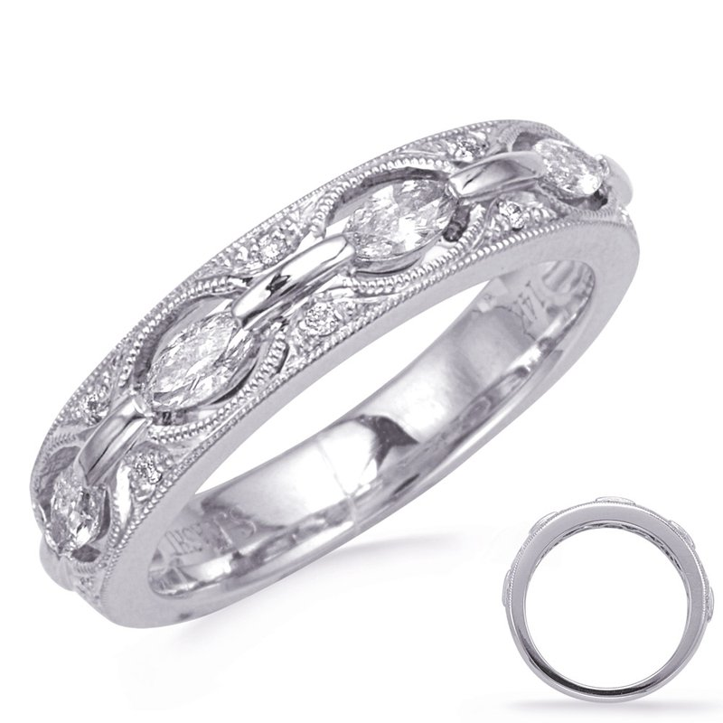 S. Kashi & Sons Bridal White Gold Weddding Band