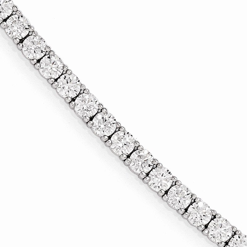 Quality Gold Sterling Silver Rhodium Plated CZ 7in Bracelet