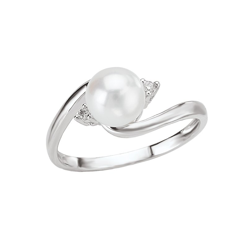 Tesoro Ladies Pearl and Diamond Ring