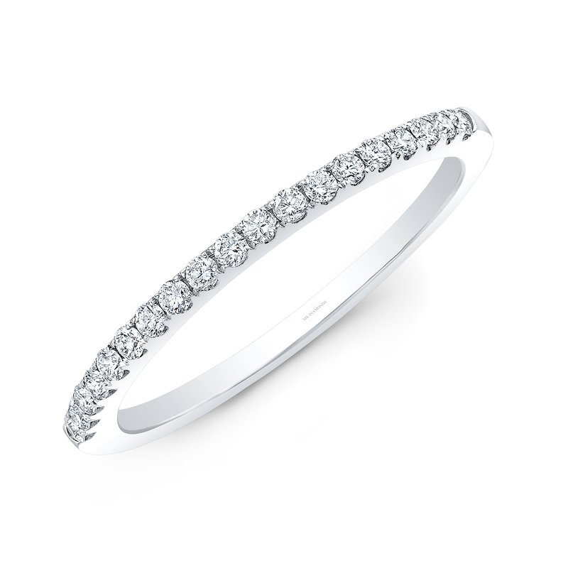 Robert Palma Designs White Gold Pave Stackable Wedding Band