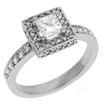 Bridal Ring White Gold