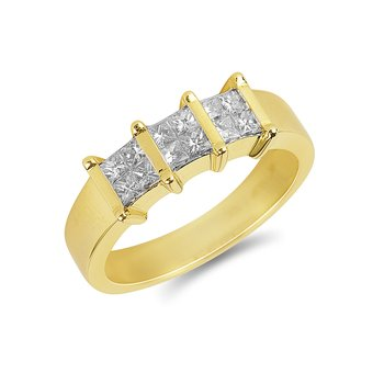 14K WG Diamond Quad Ring