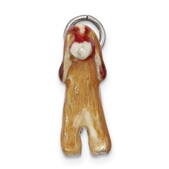 Sterling Silver Enameled Afghan Dog Charm
