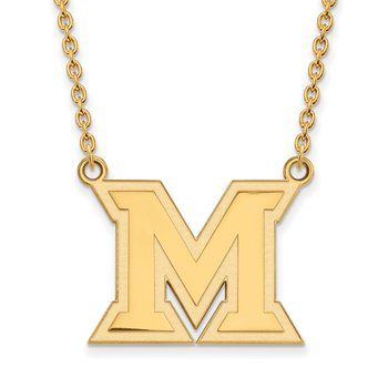 Gold Miami University NCAA Necklace