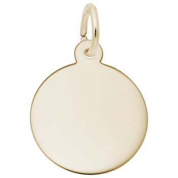 Petite Round Disc Charm (Gold Plated)