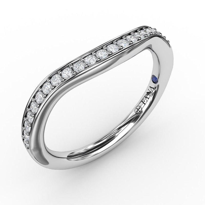Fana 1/5ct Bead and Channel Set Contour Diamond Band